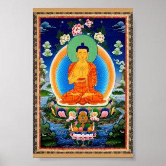 Tibetaner Thangka Prabhutaratna Buddha Poster