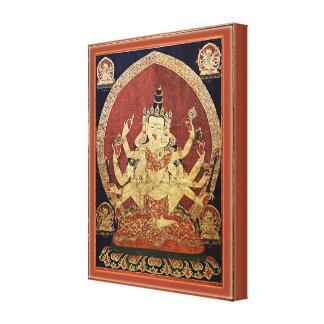 Tibetaner Thangka von Guhyasamaja Akshobhyavajra Leinwanddruck