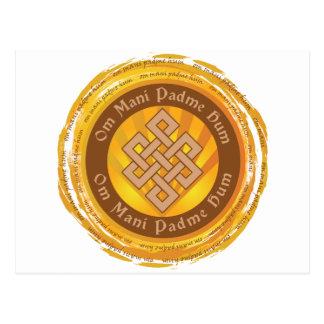 Tibetanische Beschwörungsformel-endloser Knoten Postkarte