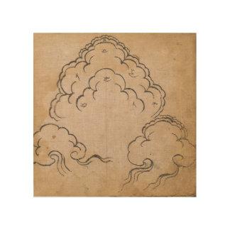 Tibetanische Wolken Holzdruck