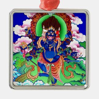 Tibetanischer Buddhismus buddhistisches Thangka Silbernes Ornament