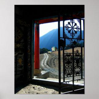 Tibetanischer Tempel Photoraph Poster
