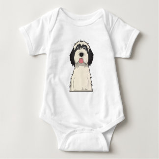 Tibetanischer Terrier-Cartoon Baby Strampler