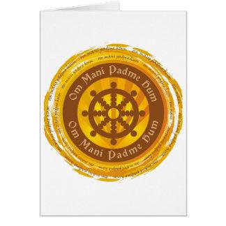 Tibetanisches Beschwörungsformel Dharma Rad Karte