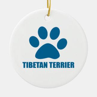 TIBETANISCHES TERRIER-HUNDEentwürfe Keramik Ornament