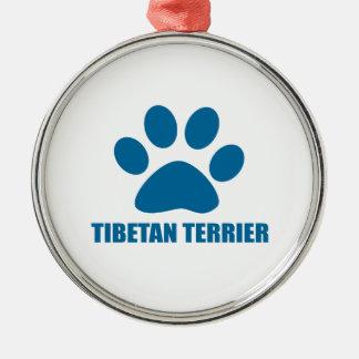 TIBETANISCHES TERRIER-HUNDEentwürfe Silbernes Ornament