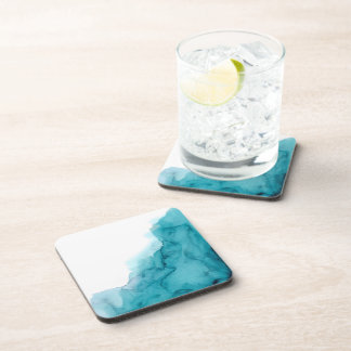 Tide Ocean Blue Watercolour Painting Coasters Untersetzer