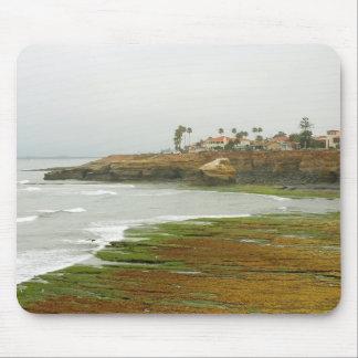 Tidepools setzt Ozean-Morgen auf den Strand Mousepad