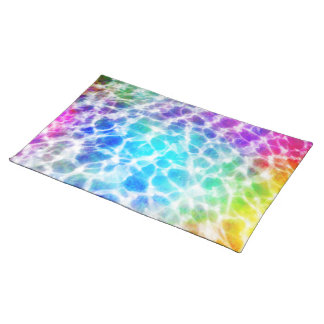 Tiedye Hippie-gewellter Regenbogen-Effekt Tischset