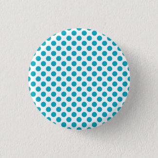 Tiefe Aqua-Tupfen Runder Button 2,5 Cm
