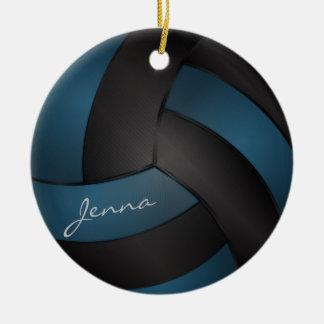 Tiefe Blaue und Schwarze personifizieren Keramik Ornament