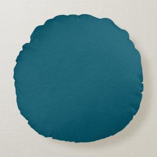 Tiefer blauer ewiger Reversible Rundes Kissen