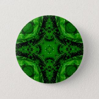 Tiefer Smaragdgrün-kreuzförmiger Entwurf Runder Button 5,7 Cm
