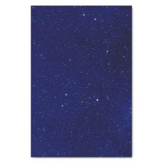 Tiefes blaues sternenklares Himmel-Seidenpapier Seidenpapier