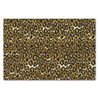 Tiefes Gold-und schwarzer Leopard-Tierdruck Seidenpapier