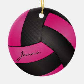 Tiefes Pink und Schwarzes personifizieren Keramik Ornament