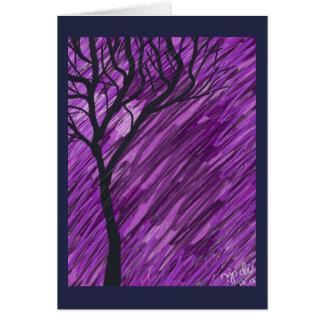 Tiefpurpurne Herbst-Baum-Gruß-Karte Karte