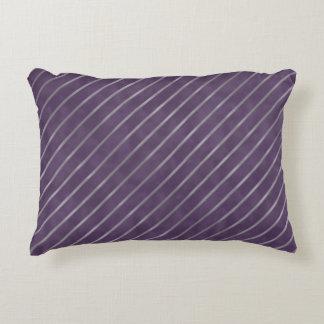 Tiefpurpurner Lavendel-Streifen Zierkissen
