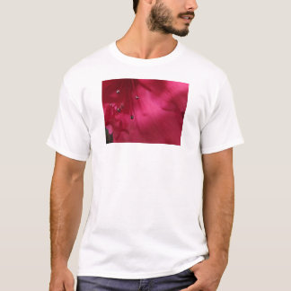 Tiefrosa Hibiskus-Shirt T-Shirt