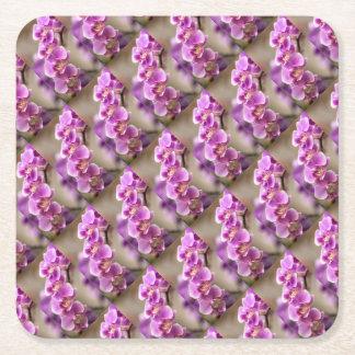 Tiefrosa Phalaenopsis-Orchideen-Blumen-Kette Rechteckiger Pappuntersetzer