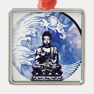Tiefwasserbuddha-Welle Silbernes Ornament