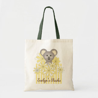 Tier-Baby-Koala-Gelb-gestreifter Kindername Budget Stoffbeutel