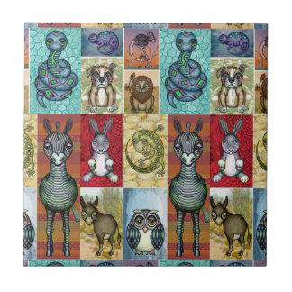 Tier-Collagen-Volkskunst-Entwurf Keramikfliese