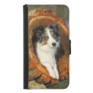 Tier-Foto Hund des Grenzcollien niedliches Geldbeutel Hülle Für Das Samsung Galaxy S5