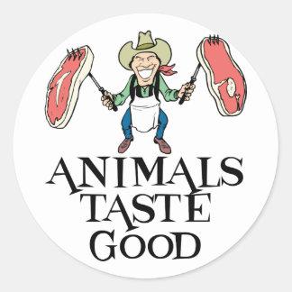 Tier-Geschmack gut Runder Aufkleber
