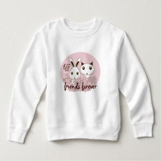 Tier-Illustrations-Freundschafts-Rosa-Gewohnheit Sweatshirt