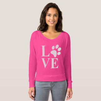 Tier-Liebhaber-Haustier-Tatzen-Herz T-shirt