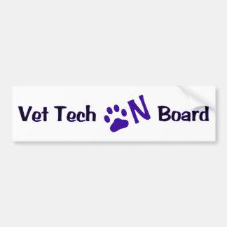 Tierarzt-Technologie an Bord #222 Autoaufkleber