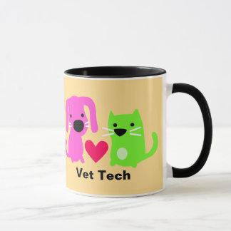 Tierarzt-Technologie-Hund u. Katze u. Herz Tasse