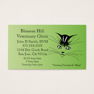 Tierärztliche Katzen-Visitenkarte Visitenkarte
