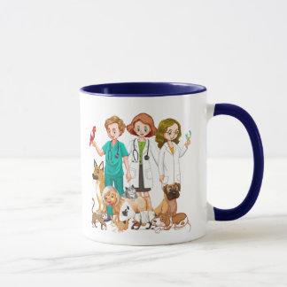 Tierärztlicher Leute-Hintergrund Tasse