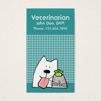Tierärztliches Haustier-berufliche Hundekatze Visitenkarte