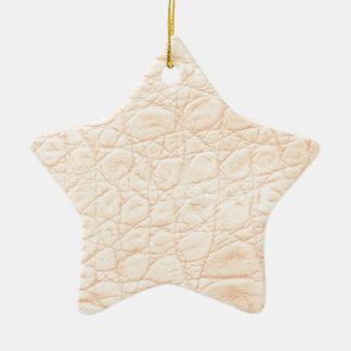 Tierdruck-Beschaffenheit im Rosa! Klassisch + Keramik Stern-Ornament