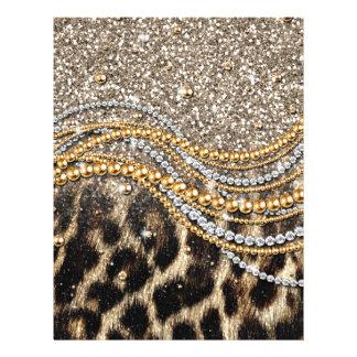 Tierdruck des schönen trendy Leopard-Imitats 21,6 X 27,9 Cm Flyer