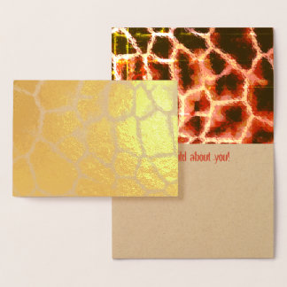 Tierdruck-Gold und Brown Folienkarte
