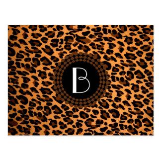 Tierdruck-Leopard-Muster Postkarte