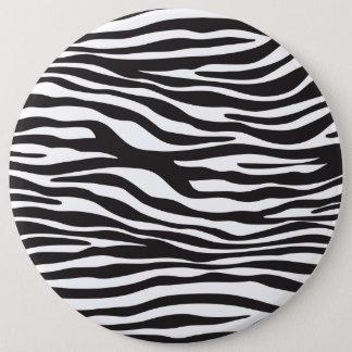 Tierdruck, Zebra-Streifen - Schwarz-weiß Runder Button 15,3 Cm
