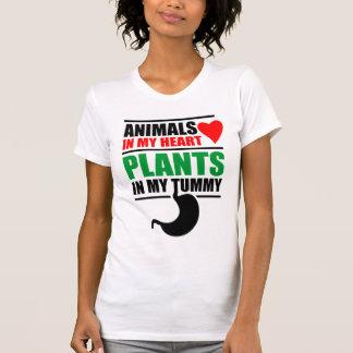 Tiere in meinem Herzen, Pflanzen in meinem Bauch T-Shirt