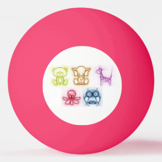 Tierfarben Ping-Pong Ball