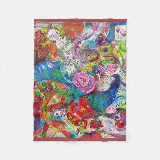 Tierische abstrakte kleine Fleece-Decke Fleecedecke