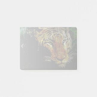 tierischer wilder Tiger Dschungelder Post-it Klebezettel