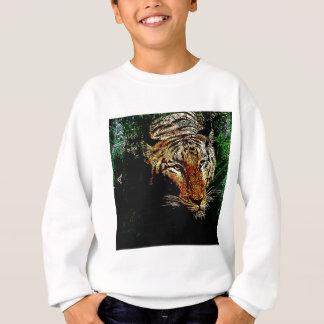 tierischer wilder Tiger Dschungelder Sweatshirt