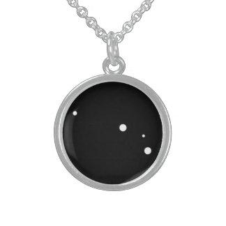 Tierkreis-Halskette: Widder-runde hängende Sterling Silberkette