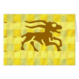 Tierkreis-Symbole auf goldenen Rahmen Grußkarte
