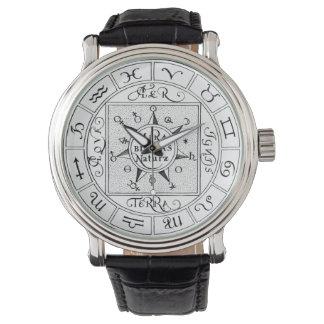 Tierkreis-und Planeten-Symbol-Mandala Uhr