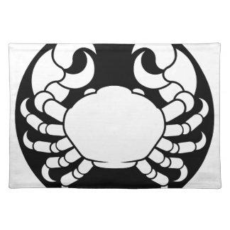 Tierkreis unterzeichnet Krebs-Krabbe Tischset